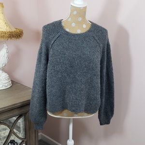 3 for $45  Aerie Charcoal grey fuzzy sweater